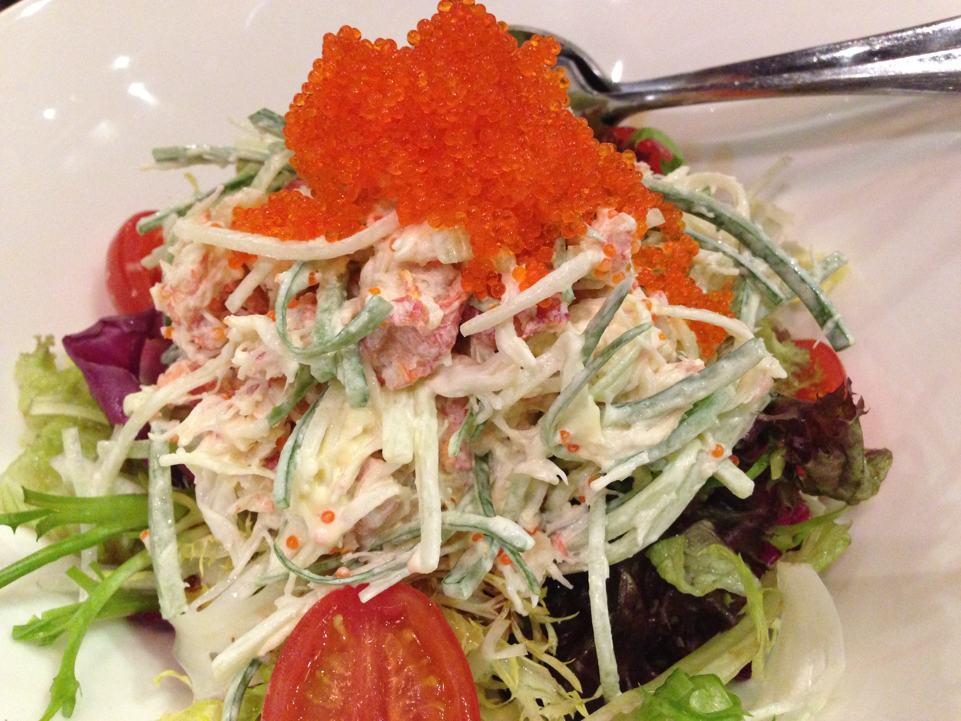 Flying fish egg salad for Flying fish egg